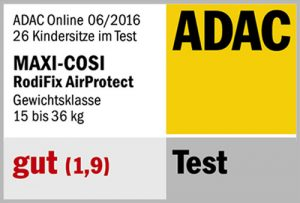 Résultat crash-test ADAC Bébé Confort RodiFix AirProtect