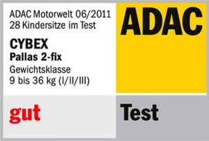 Résultat crash-test ADAC Cybex Pallas 2-fix