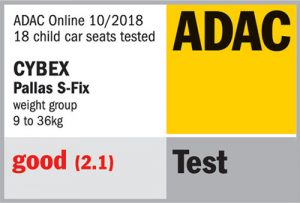 Résultat crash-test ADAC Cybex Pallas S-Fix
