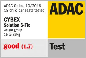 Résultat crash-test ADAC Cybex Solution S-Fix