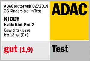 Résultat crash-test ADAC Kiddy Evolution Pro 2